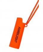 AMBUSH(アンブッシュ)の古着「ライターケースネックレス」 オレンジ