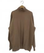 SOFIE DHOORE(ソフィードール)の古着「ハイネックスウェット」|ブラウン