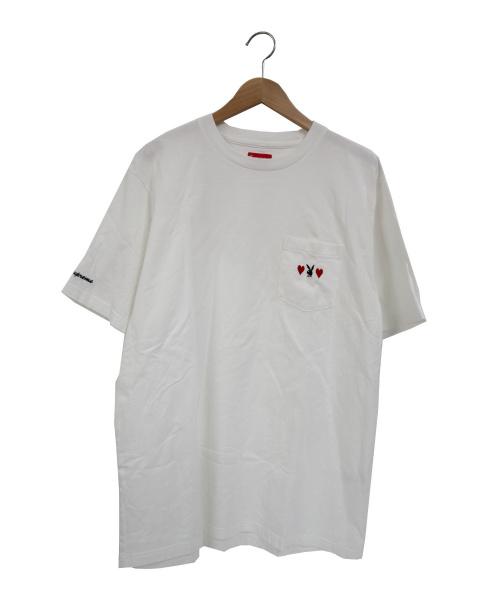 Supreme × Play Boy()Supreme × Play Boy (シュプリーム × プレイボーイ) コラボラビット刺繍ポケットTシャツ ホワイト サイズ:XL 18AW Playboy Pocket Teeの古着・服飾アイテム