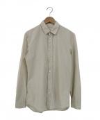 Maison Margiela 10(メゾンマルジェラ 10)の古着「レギュラーカラーロングスリーブシャツ」 ベージュ