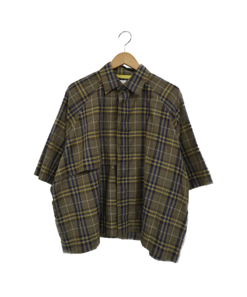 UNITED TOKYO(ユナイテッドトーキョー)UNITED TOKYO (ユナイテッド トウキョウ) トレンチハーフスリーブシャツ ブラウン サイズ:1 409402004の古着・服飾アイテム