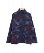 Patagonia(パタゴニア)の古着「【古着】ハーフジップフリースプルオーバージャケット」 ブルー×レッド