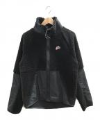 NIKE()の古着「シェルパボアフリースジャケット」|ブラック