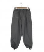 FWk Engineered Garments(エフダブリューケーエンジニアードガーメンツ)の古着「コットンバルーンパンツ」|グレー
