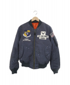 AVIREX(アヴィレックス)の古着「MA-1ジャケット」|ネイビー