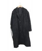 MINE TO HI SHIGANA(マイン トゥ ハイ シガーナ)の古着「カシミヤ混リメイクチェスターコート」 ブラック