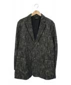 ()の古着「ジャガードテーラードジャケット」|グレー