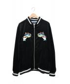 X-LARGE(エクストララージ)の古着「スーベニアジャケット(スカジャン)」|ブラック