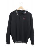 Thee Hysteric XXX(ジィヒステリックトリプルエックス)の古着「ROAD SIGNL/Sニットポロシャツ」|ブラック