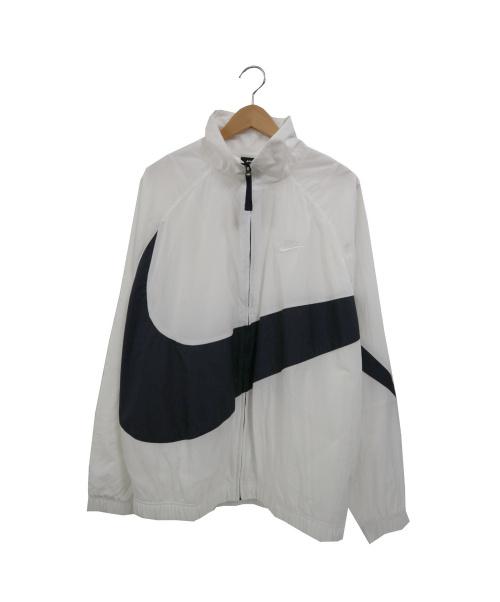 NIKE(ナイキ)NIKE (ナイキ) ウーブンナイロンジャケット ホワイト×ブラック サイズ:XL HRB STMT WVN JACKETの古着・服飾アイテム