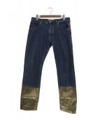 LOEWE(ロエベ)の古着「裾ゴールドフィッシャーマンデニムパンツ」|インディゴ