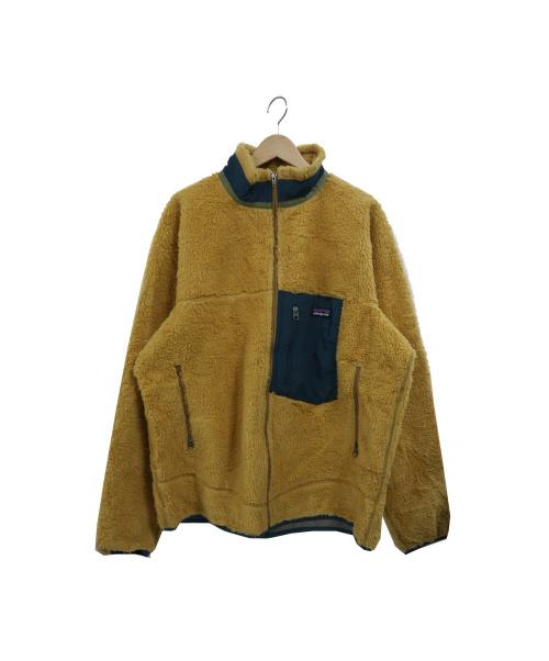 Patagonia(パタゴニア)Patagonia (パタゴニア) クラシックレトロXジャケット(ボアジャケット) イエロー サイズ:L 23055FA13 CLASSIC RETRO-X JACKETの古着・服飾アイテム