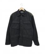 NEIGHBORHOOD()の古着「ミリタリーカーゴL/Sワークシャツ」|ブラック
