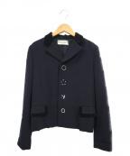 ROBE DE CHAMBRE COMME DES GARCONS(ローブドシャンブル コムデギャルソン)の古着「デザインジャケット」|ネイビー