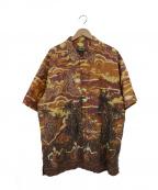 pataloha(パタロハ)の古着「オーバーサイズハワイアンシャツ」|ブラウン