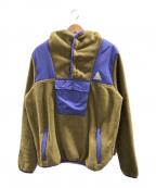 HUF(ハフ)の古着「フリースアノラックジャケット」|オリーブ