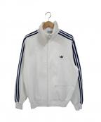 adidas Originals()の古着「【古着】80'sヴィンテージトラックジャケット」|ホワイト×ネイビー