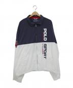 POLO SPORT()の古着「ナイロンジャケット」|ネイビー×ホワイト