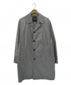 SOVEREIGN(ソブリン)の古着「ナイロンチェスターコート」|ホワイト×ブラック