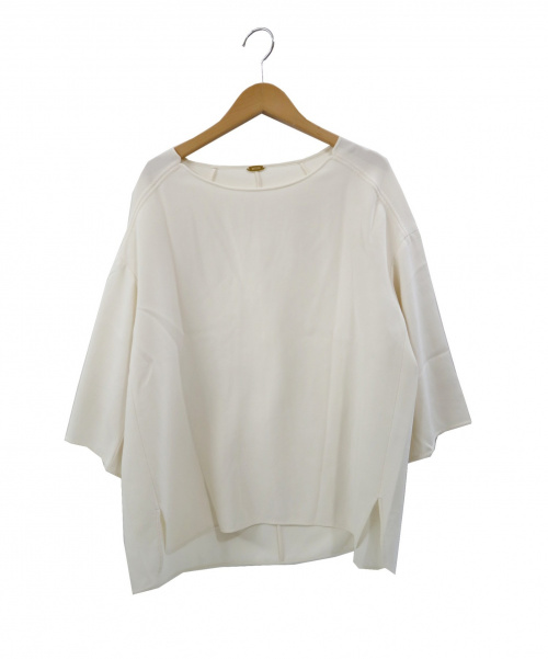 MUSE(ミューズ)MUSE (ミューズ) トリアセジョーゼットドロップブラウス オフホワイト サイズ:FREEの古着・服飾アイテム