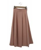 ()の古着「ミモレフレアスカート」|ピンク