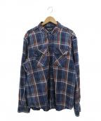 REPLAY(リプレイ)の古着「チェックシャツ」|インディゴ