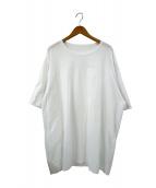 ()の古着「アシンメトリードレープカットソー」|ホワイト
