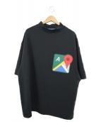 ()の古着「グーグルマップスウェットTシャツ」|ブラック