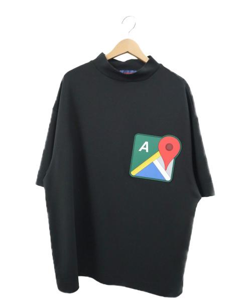 ADANS(アダンス)ADANS (アダンス) グーグルマップスウェットTシャツ ブラック サイズ:Mの古着・服飾アイテム
