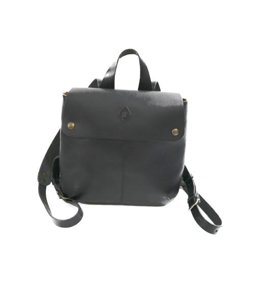 CLEDRAN(クレドラン)CLEDRAN (クレドラン) レザーリュック ブラック サイズ:下記参照 牛革の古着・服飾アイテム