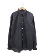 ()の古着「ドットロングスリーブシャツ」|ネイビー