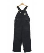 CarHartt(カーハート)の古着「ダブルニーオーバーオール」|ブラック