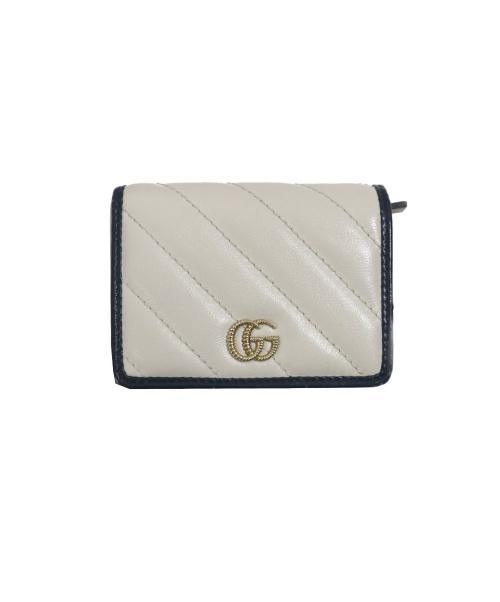 GUCCI(グッチ)GUCCI (グッチ) GGマーモント2つ折り財布 ホワイト サイズ:下記参照 573811 203887の古着・服飾アイテム