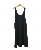 AKTE(アクテ)の古着「サイドベルトジャンパースカート」|ブラック