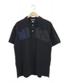 COMME des GARCONS HOMME DEUX×NIKE(コムデギャルソン オムドゥ × ナイキ)の古着「コラボロゴポロシャツ」|ブラック