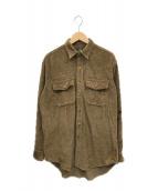 ()の古着「[古着]90'sコーデュロイシャツ」 ブラウン