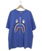 BAPE BY A BATHING APE(ベイプバイアベイシングエイプ)の古着「シャークS/STシャツ」|ブルー