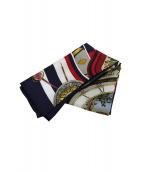()の古着「カレ90(シルクスカーフ)」|ホワイト×ネイビー