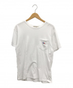 maison kitsune(メゾンキツネ)の古着「トリコロールフォックスポケットTシャツ」|ホワイト