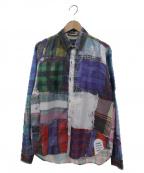 MIHARA YASUHIRO(ミハラヤスヒロ)の古着「転写プリントシャツ」|グリーン×ブルー
