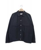 ()の古着「コットンナイロングログランショートジャケット」|ネイビー