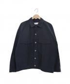 eN ROUTE(アンルート)の古着「コットンナイロングログランショートジャケット」|ネイビー