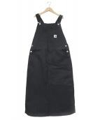 CarHartt(カーハート)の古着「ジャンパースカート」|ブラック