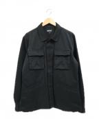 RIPNDIP(リップンディップ)の古着「バックプリントワークシャツジャケット」 ブラック