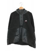 ()の古着「ボアシェルパフーディージャケット」 ブラック