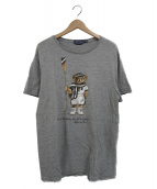 POLO RALPH LAUREN(ポロ・ラルフローレン)の古着「ポロベアプリントTシャツ」|グレー