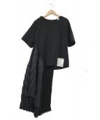 Maison MIHARA YASUHIRO(メゾン ミハラヤスヒロ)の古着「プリーツTシャツ」|ブラック