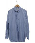 ()の古着「比翼シャツ」|ブルー