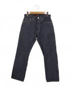 RESOLUTE(リゾルト)の古着「リジットデニムパンツ」|ブルー