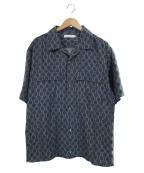 ROTOL(ロトル)の古着「ヘキサゴンH/Sオープンカラーシャツ」 ネイビー
